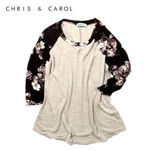 Boutique brand {chris & carol} long-sleeve tee, L